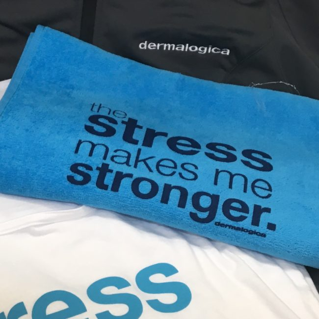 Fitness Towels for Skincare Brand, Dermalogica, Yoga Event